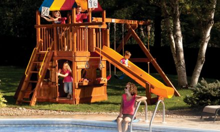 Wooden Swing Set Slide